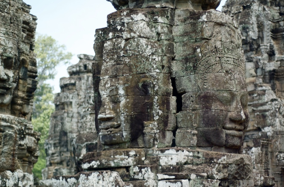 216 Buddha faces stare out from 51 towers at Prasat Bayon in Angkor Thom